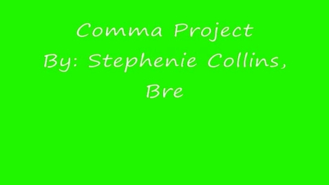 Thumbnail for entry Introductory Words and Phrases Comma Project