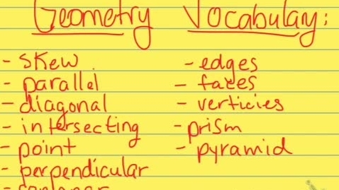 Thumbnail for entry Geometry Vocabulary