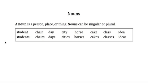 Thumbnail for entry Nouns