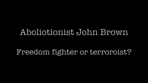 Thumbnail for entry Abolitionist John Brown