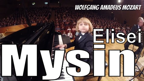 Thumbnail for entry Mozart Concerto No 3  with Mysin Elisei  on Piano