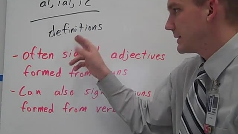Thumbnail for entry al, ial, ic definitions