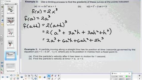 Thumbnail for entry Derivatives lesson part 3  4-5-18