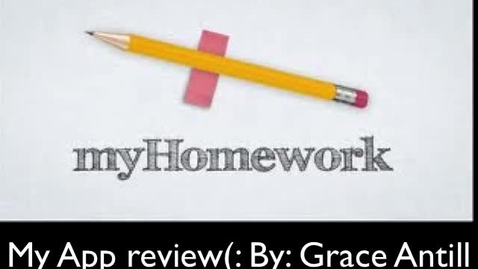 Thumbnail for entry App review, and Website. Myhomework