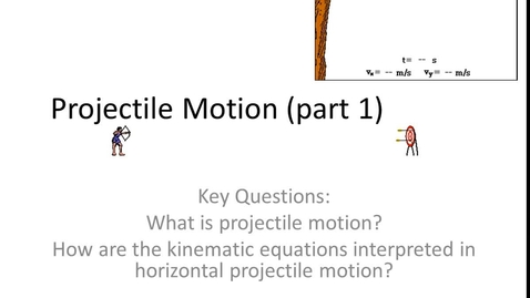 Thumbnail for entry Projectile Notes 1