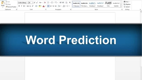 Thumbnail for entry Word Prediction Feature - Read&Write Gold Version 11