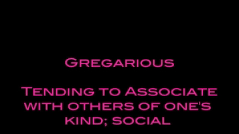 Thumbnail for entry Brainy Flix- gregarious