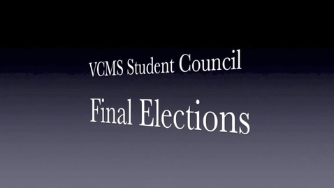 Thumbnail for entry VCMS 2014-15 Student Council Election Broadcast