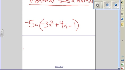 Thumbnail for entry Monomial times a binomial example 4