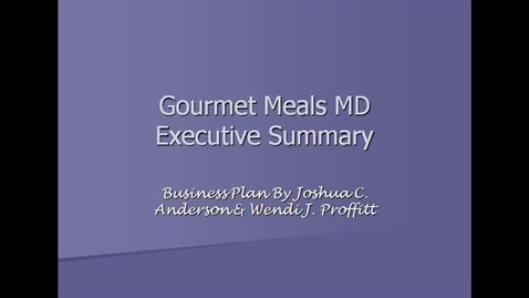 Thumbnail for entry Gourmet Meals MD