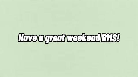 Thumbnail for entry 6.4.2021 Friday RMSTV