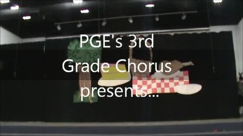 """Thumbnail for entry PGE's 3rd Grade Chorus presents """"Bugs"""""""