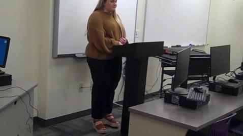 Thumbnail for entry Hannah McGee Speech 1