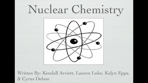 Thumbnail for entry NuclearChemistryPeriod5
