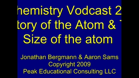 Thumbnail for entry History and Size of the Atom