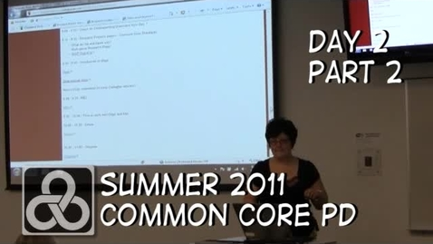 Thumbnail for entry Kent ISD Common Core PD - Part 2