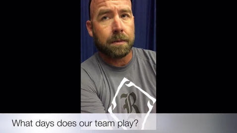 Thumbnail for entry RHS Baseball Season 2016