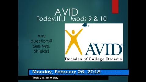 Thumbnail for entry 2-26-18 WHMS Morning News