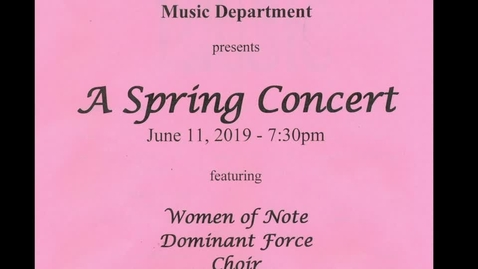 Thumbnail for entry Grand Island HS Spring Choral Concert 6-11-2019