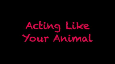 Thumbnail for entry Act Like Your Animal - Barney.mp4