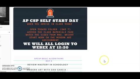 Thumbnail for entry SelfStart.APCSP.LunchBlock