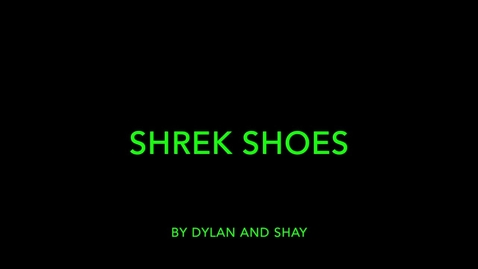 Thumbnail for entry Shrek Shoes