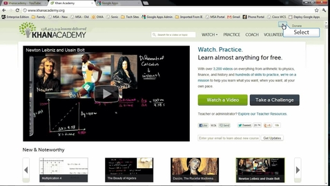 Thumbnail for entry Logging into and using Khan Academy