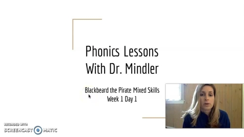 Thumbnail for entry Part 1 Week 1 Mixed Skills Blackbeard
