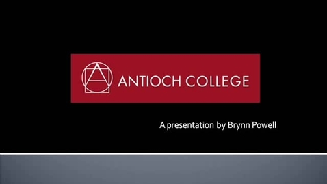 Thumbnail for entry Antioch College Presentation