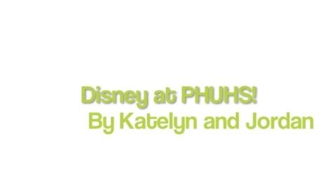 Thumbnail for entry Disney at PHUHS!