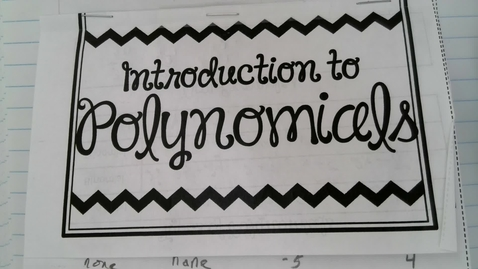 Thumbnail for entry Adding Polynomials