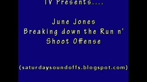Thumbnail for entry June Jones Breaks Down Run n' Shoot