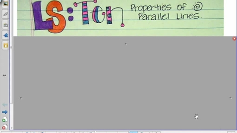 Thumbnail for entry Lesson 10 Parallel Lines