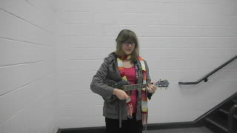Thumbnail for entry radiohead UKULELE cover- creep (in my school stairwell)
