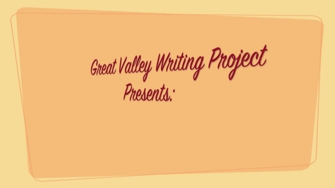 Thumbnail for entry GVWP Writing & Technology Workshops, 2012 (K-6)