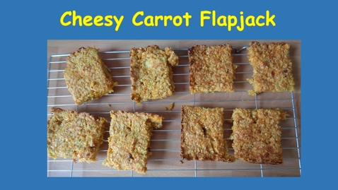 Thumbnail for entry cheesy carrot flapjack