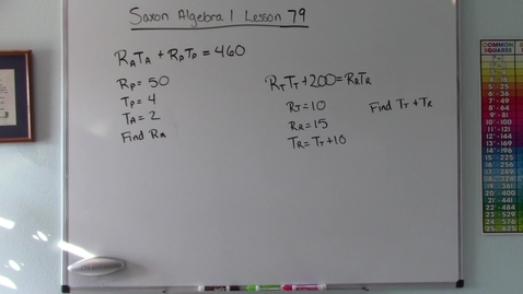 Thumbnail for entry Saxon Algebra 1 - Lesson  79 - Systems of Equations with Subscripted Variables
