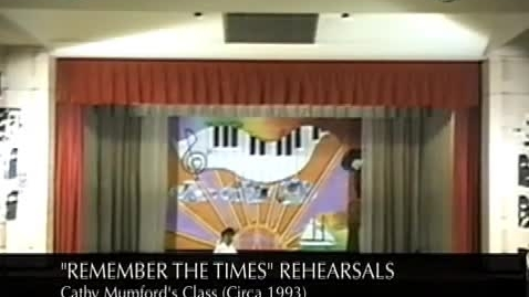 """Thumbnail for entry (Circa 1993) Ms Mumford's """"Remember The Times"""" Rehearsals"""