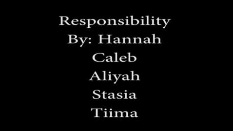 Thumbnail for entry Responsibility - WSCN (Warren Acronym 2017/2018)