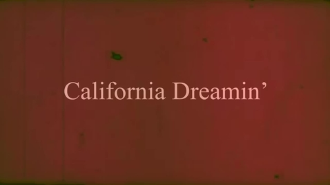 Thumbnail for entry California Dreamin - WSCN Music Video (2018/2019 Sem 2)