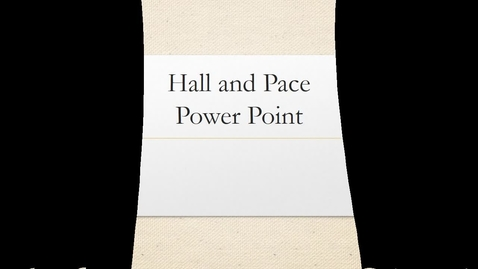 Thumbnail for entry Ms. Hall's Power Point
