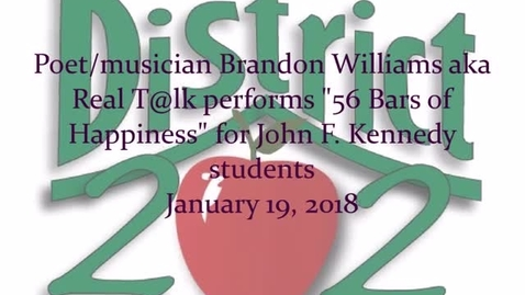 Thumbnail for entry Real T@lk performs for students, John F. Kennedy MS, 01.19.2018