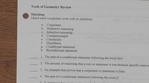 Thumbnail for entry Geometry Chapter 1 Review