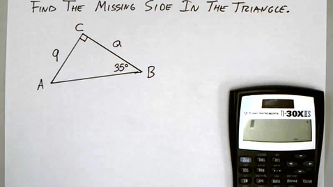 Thumbnail for entry 5-4 Applications of Trig Functions 1