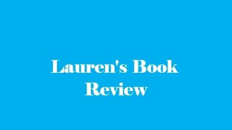 Thumbnail for entry 13-14 Sahadeo Lauren's Book Review