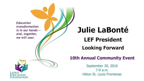 Thumbnail for entry LEF and Looking Forward - Julie LaBonté