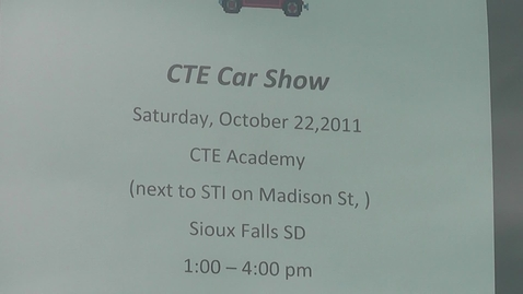 Thumbnail for entry CTE Academy car show