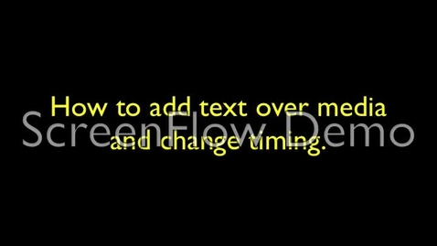 Thumbnail for entry iMovie Tutorial- Text over media