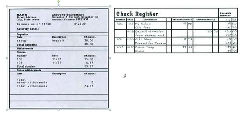 Thumbnail for entry Balancing a Checking Account