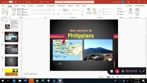 Thumbnail for entry PHILIPPIANS PART 1:  Joy in spite of ...